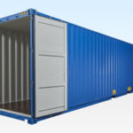 New 40ft Hi-Cube Shipping Container. Doors Fully Open