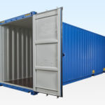 High Cube Shipping Container. 40ft Long. Doors Open.