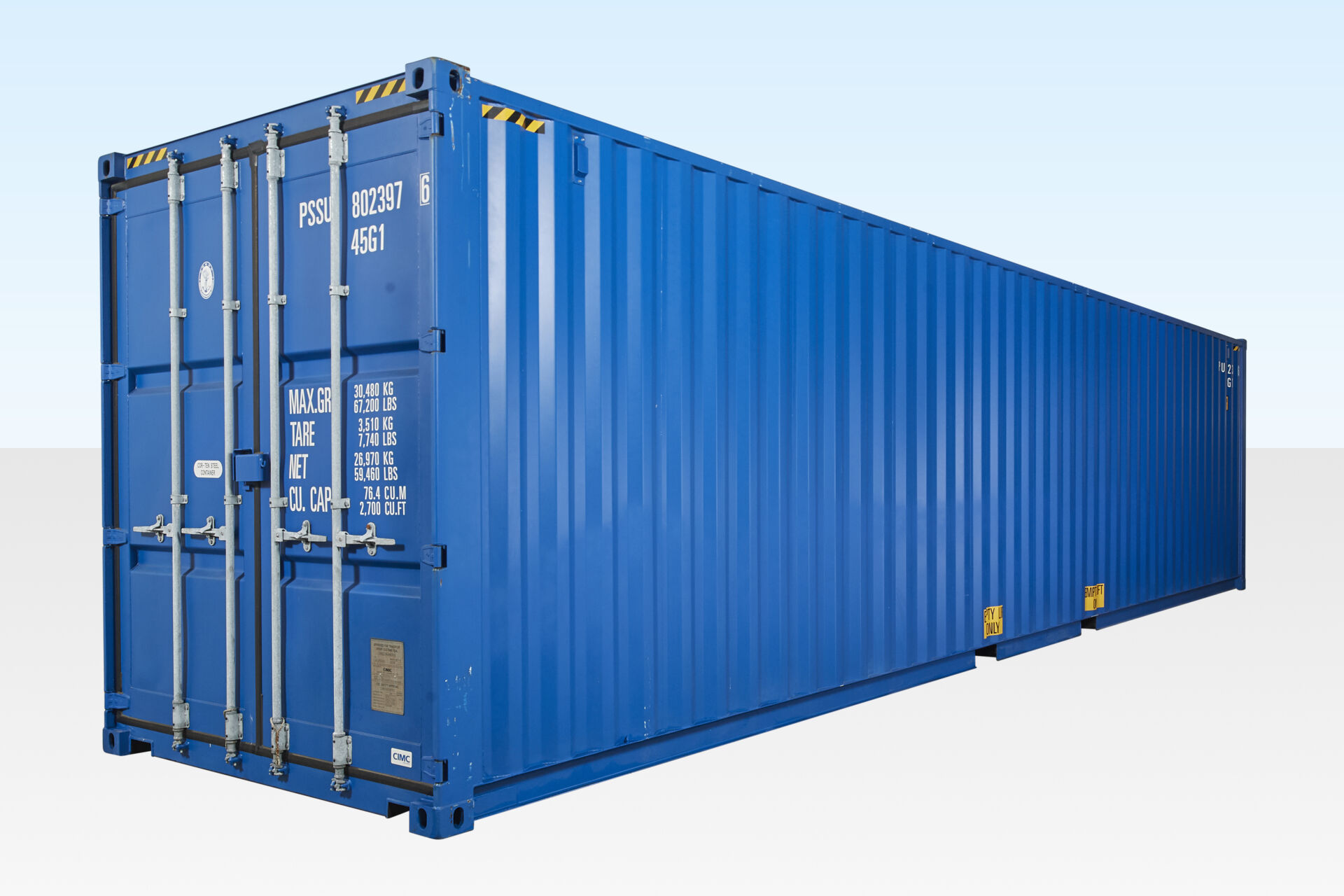 40ft Shipping Container >> 40ft High Cube Container One Trip 9ft 6 High