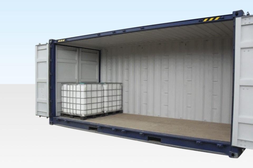 IBC Storage in Shipping Container