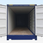 40ft High Cube Full Side Access Shipping Container. End Doors Open