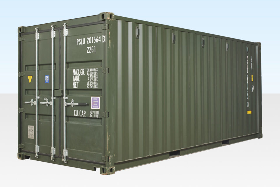 20ft Tunnel Container. Exterior View.
