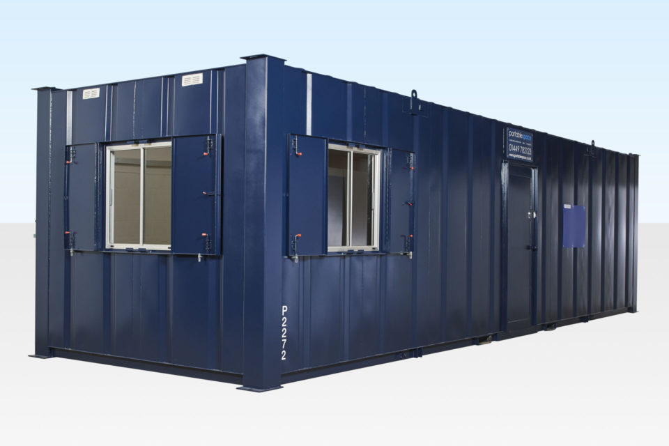 Hire a Site Office / Canteen Cabin - Steel Anti-Vandal 32ft
