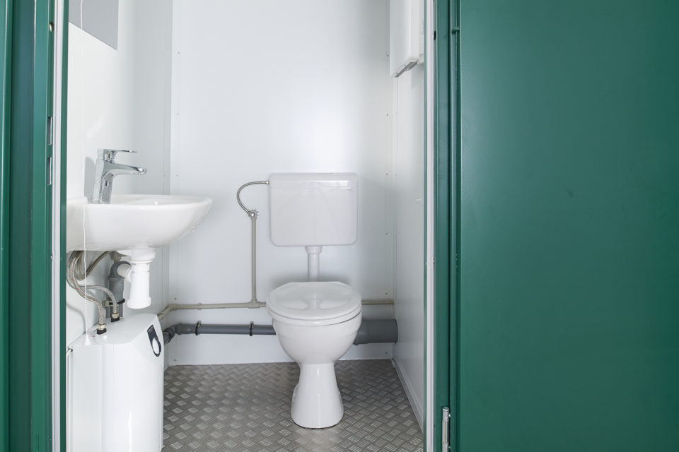 Site Toilet for Sale. Interior View - Toilet & Sink
