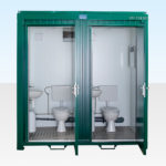 Double Site Toilet for Sale (Green RAL6005)