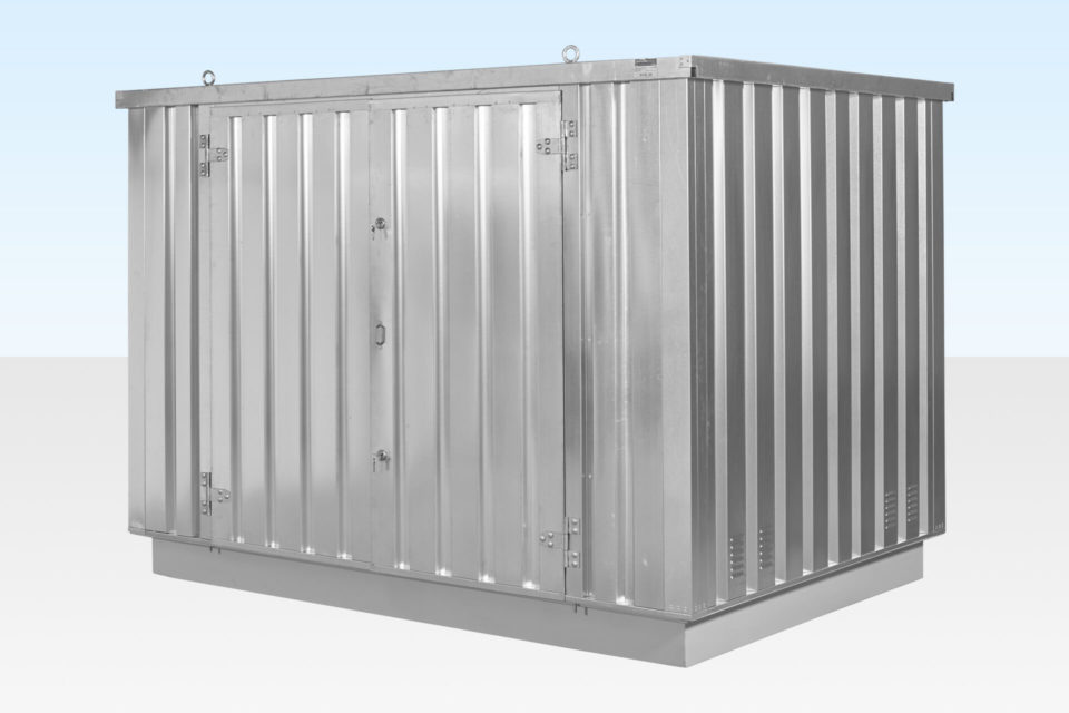 Side View of 3m chemical storage container