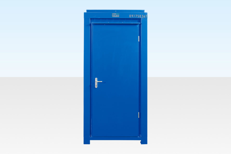 Single Mains Toilet for Hire - Cabin Closed