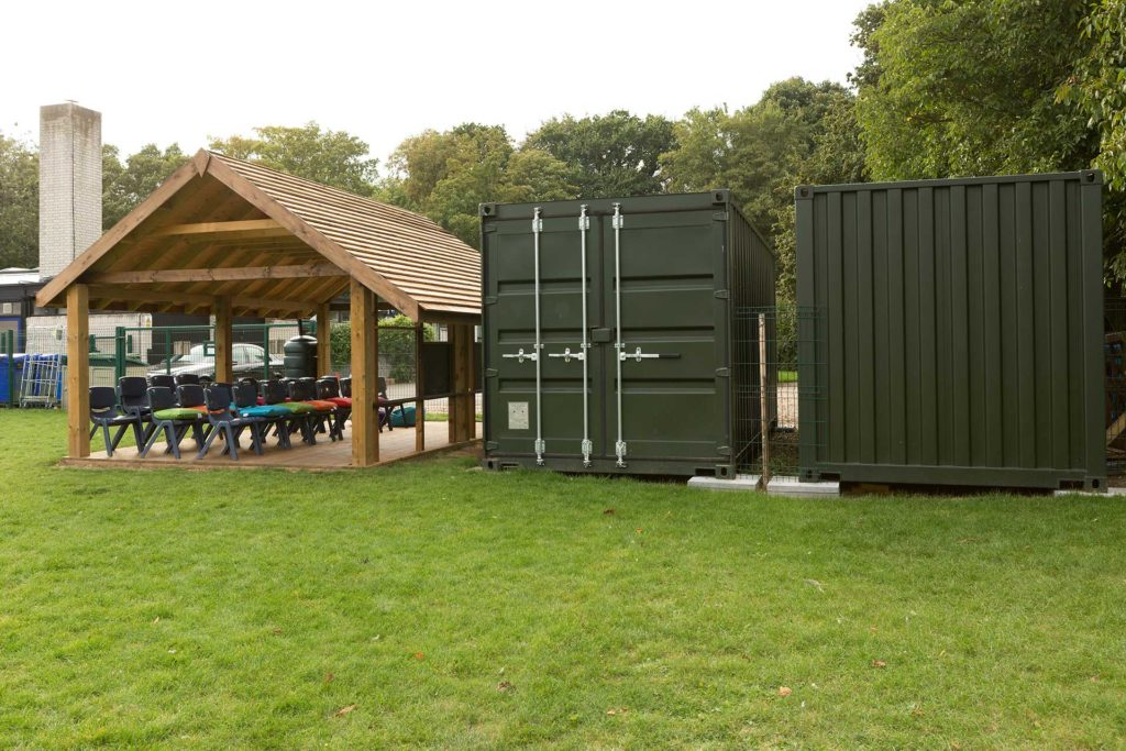 Suffolk school buy two 20ft storage containers