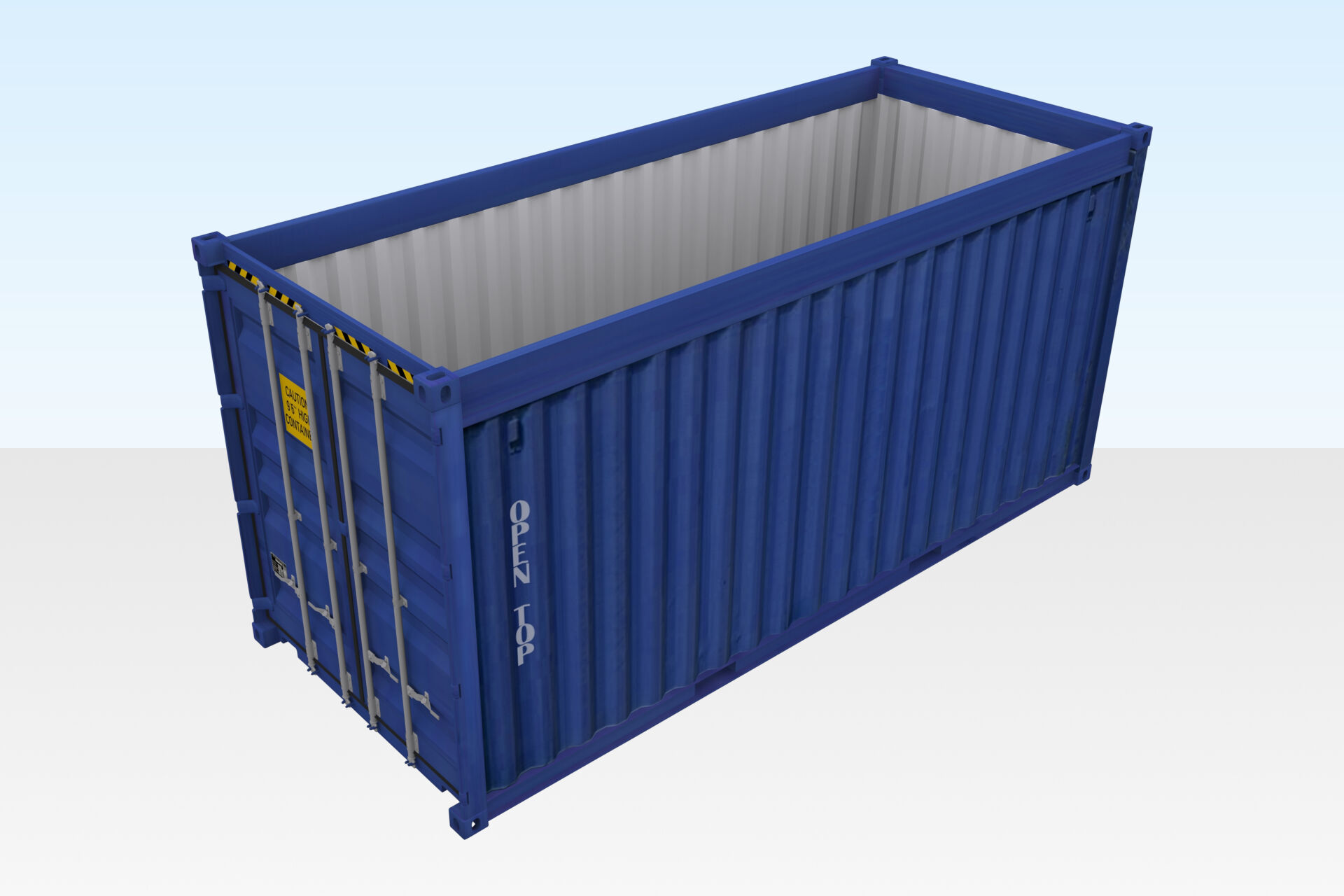 40ft x 8ft Used open top shipping container for sale : Open