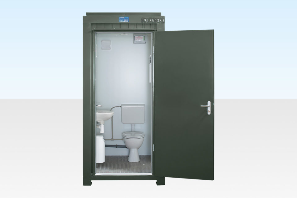 Site Toilet Cabin for Sale - Dark Green RAl 6007