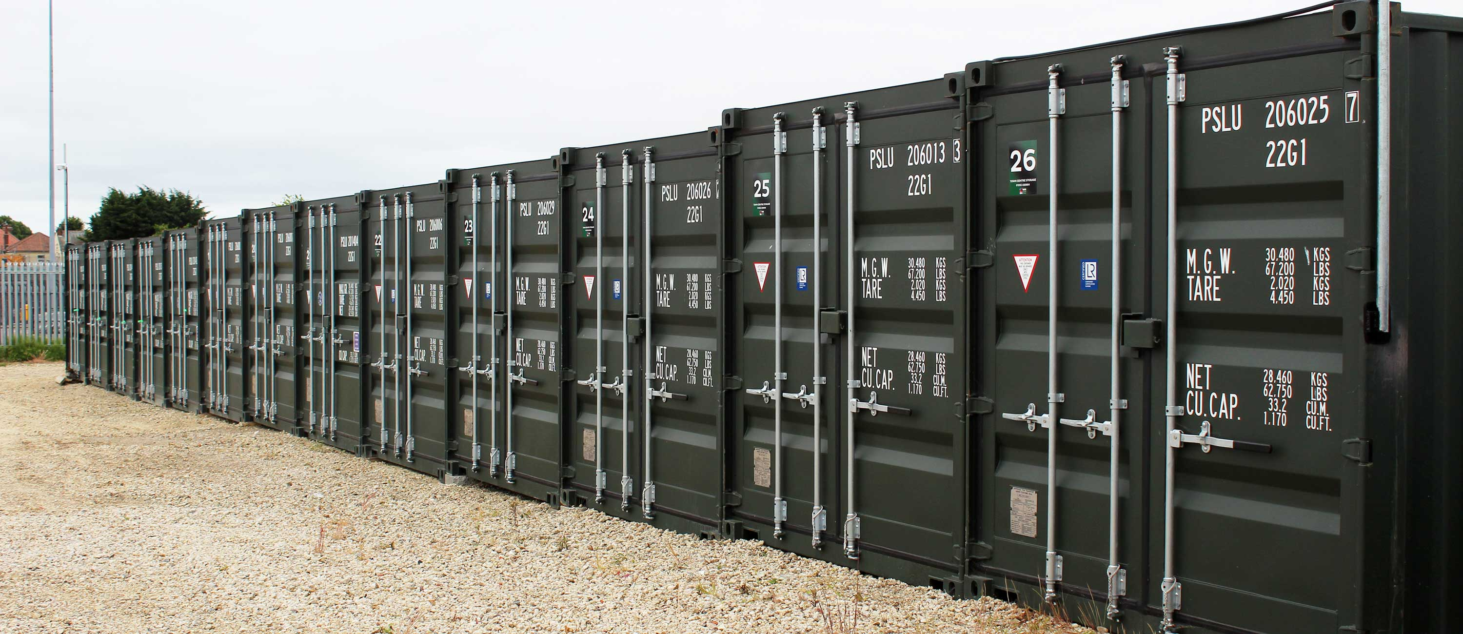 Self Storage Containers at SB Developments in Clacton, Essex