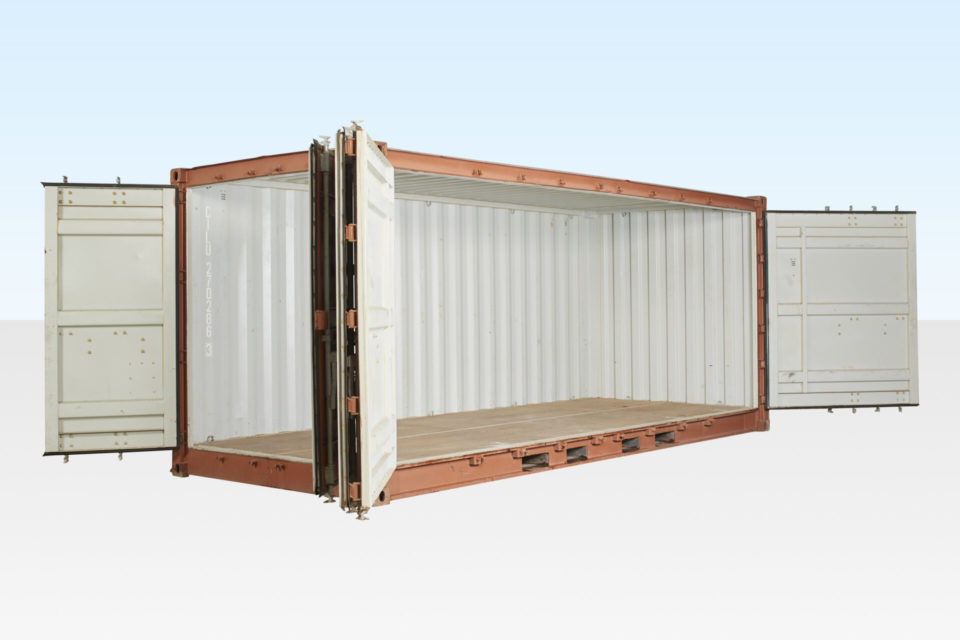 Open Side Shipping Container. 20ft Used. All Doors Open