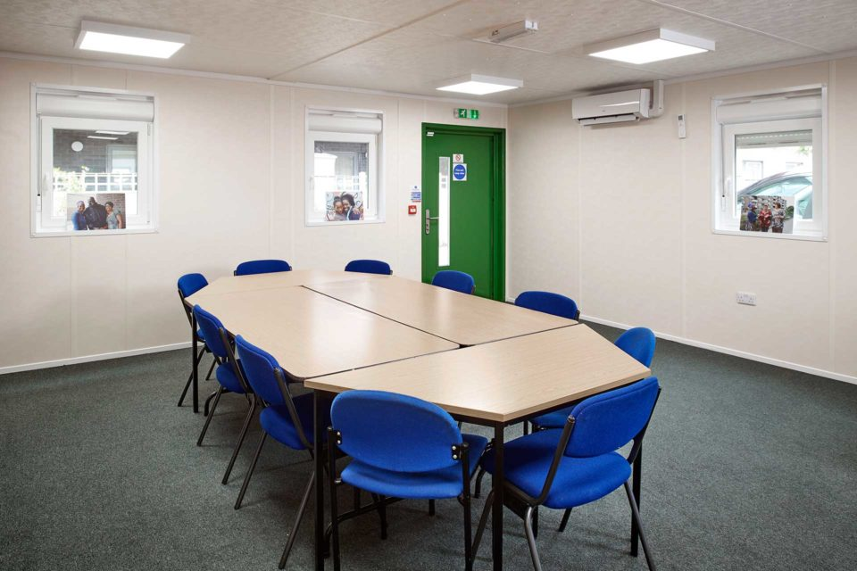 Meeting room in a modular building