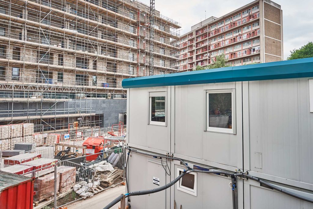Euro Modular Building – On construction site