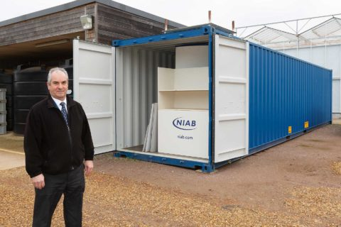 NIAB Cambridge - 40ft Tunnel Container Doors Open