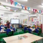 Full classroom facilities in a modular building