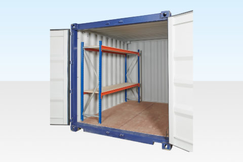 Container Racking for 10ft (Single Bay) Two Tier