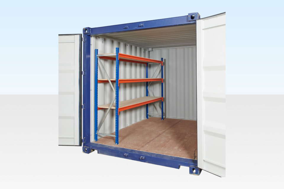 3-Tier Heavy Duty Container Racking for 10ft, 20ft, 30ft and 40ft