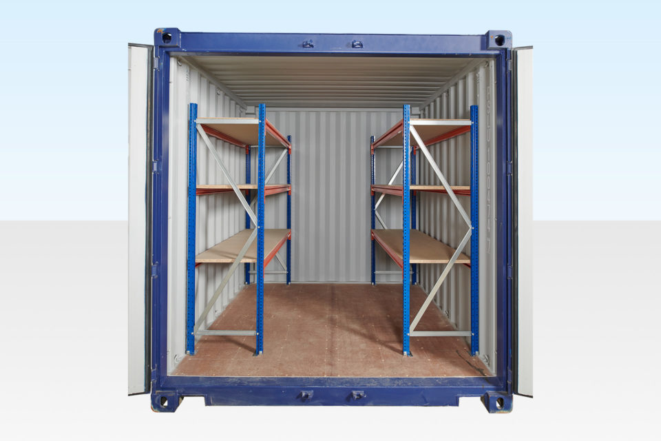 10ft Container with 3-Tier Racking on Both Sides