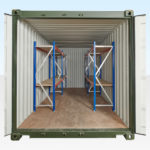 2 Tier Racking both sides of 20ft Container