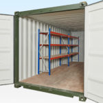 3-Tier Racking in a 20ft Container