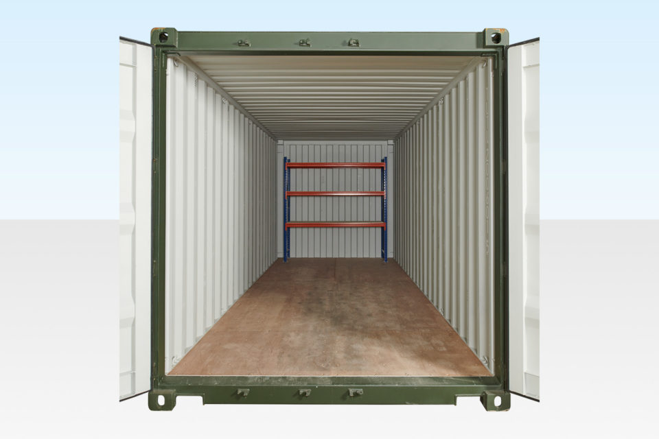 3 Tier Racking at Rear of Container