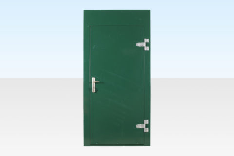 Extra door panel for flat pack office cabin
