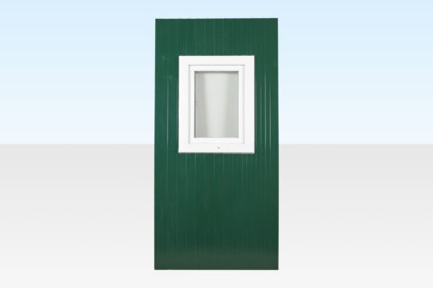 Extra window panel for flat pack office