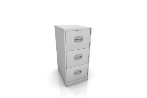 3 drawer meta filing cabinet for site office