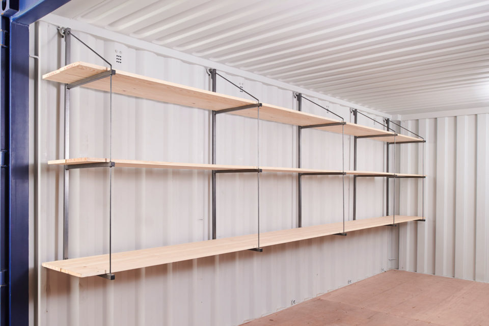 Fastfit Container Racking 3 Tier Single Side