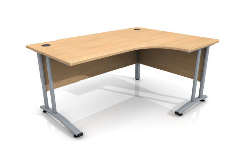 Right Hand Curve Desk for Site Office cabin