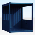 Smoking Shelter for Sale/Hire RAL5013