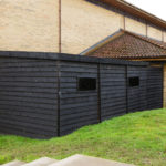 Culford School Shipping Container Clad in Timber