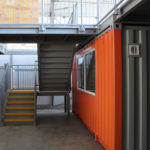 Steps to Mezzanine Floor above Shipping Container