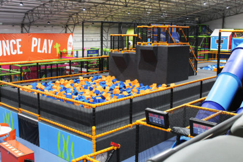 Shipping Containers and Cabins - Trampoline Park