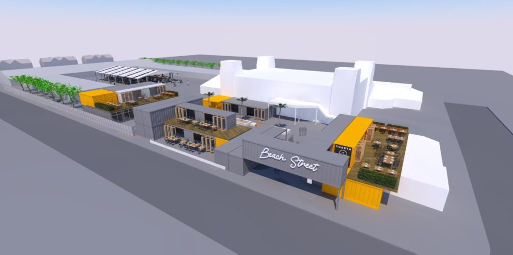 Converted Shipping Containers Seafront Scheme Felixstowe