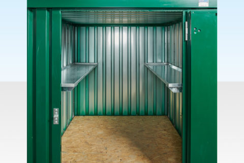 2m Flat Pack Container Shelving - Both Sides
