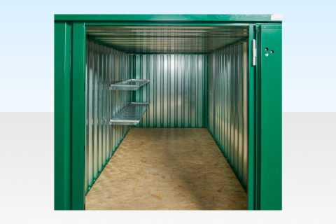 Shelving for 4m Flat Pack Container Half Length 2 Tier