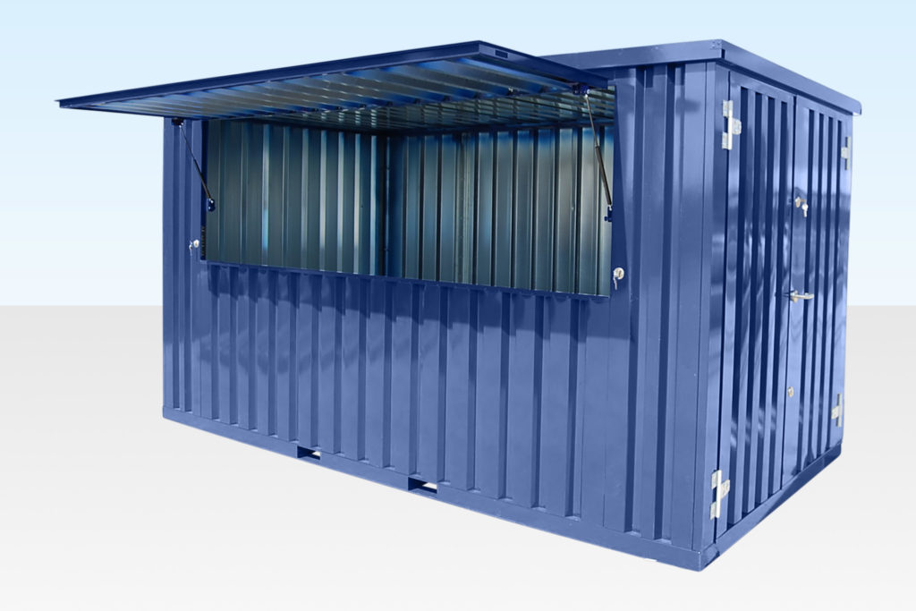 Flat Pack Container with Hatch