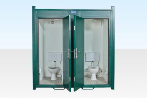 Steel Anti-Vandal Double Toilet