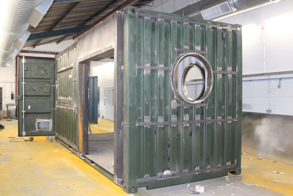 Stage 2 of a container conversion
