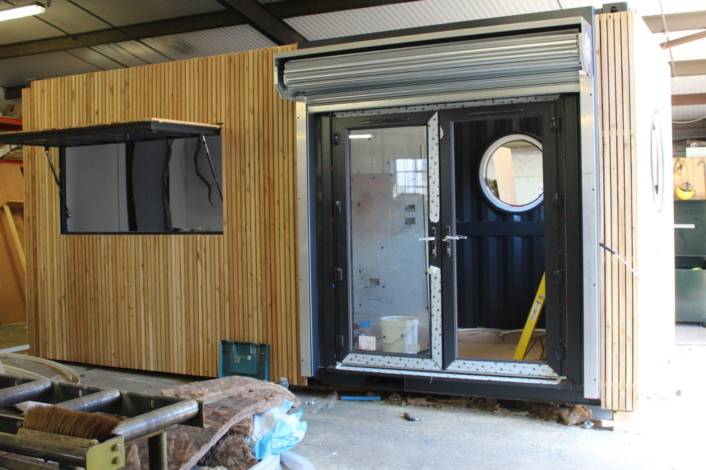 Stage 4 of a container conversion