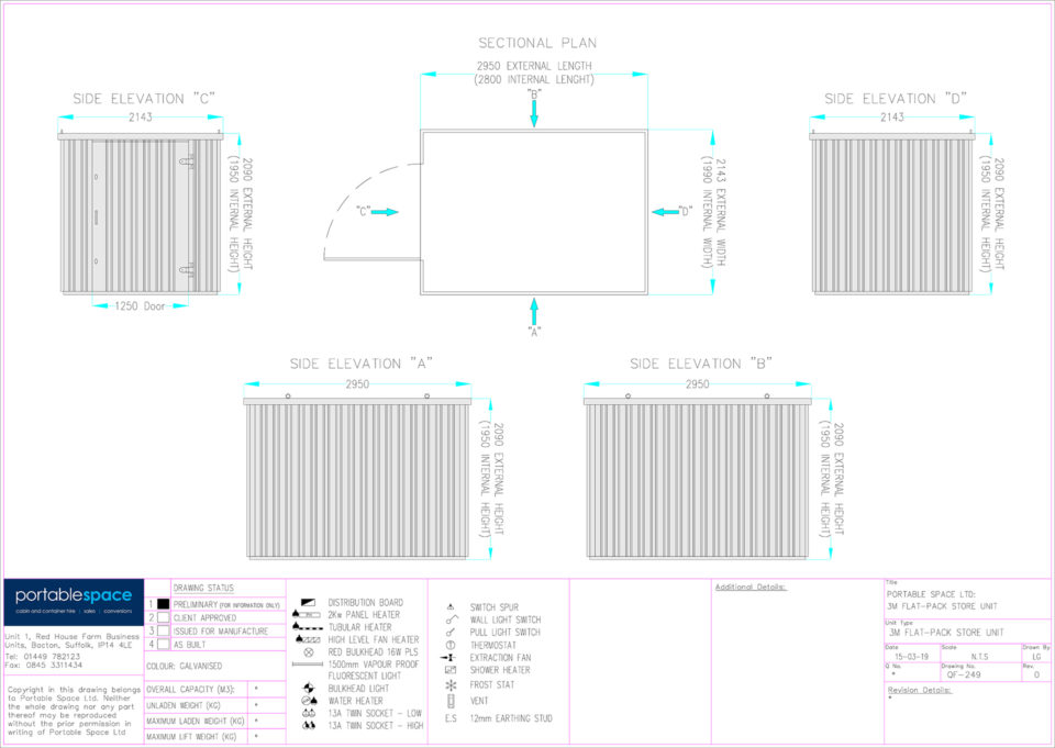 Layout Drawing 3m Flat Pack Store