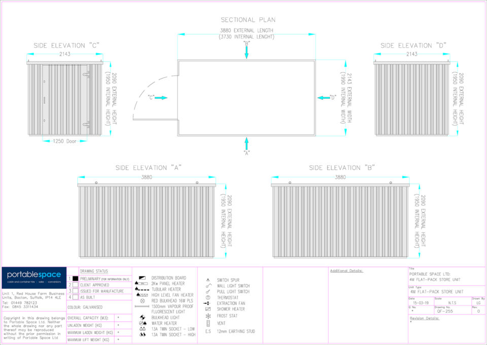 Layout Drawing 4m Store