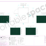 Layout Dawing 3m x 4.2m Store Green