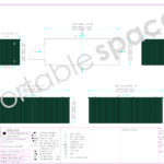 Layout Drawing 6m Flat Pack Store Green