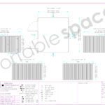 Layout Drawing Side Linked 4m Flat Pack Store