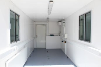 Interior container conversion electrics fitted