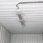 LED strip lighting inside a container