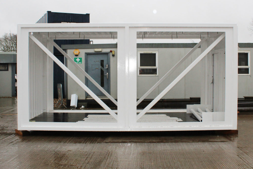 Container conversion frame
